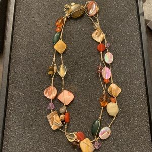 Lia Sophia Multi Colored Crystal Necklace